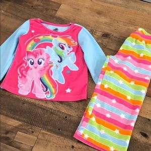 My little pony fleece pjs